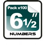 "6.5"" Race Numbers - 100 pack"